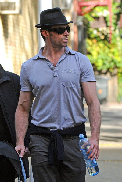 Hugh Jackman Rectangular Sunglasses