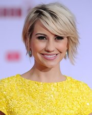 A shiny pink gloss gave Chelsea Kane a fun and flirty vibe on the red carpet.