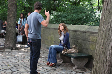 Jennifer Lopez Alex O'Loughlin Jennifer Lopez and Alex O'Loughlin on the Set of 'The Back-Up Plan' 2