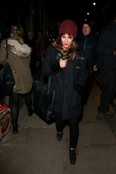 More Pics of Caroline Flack Knit Beanie (1 of 4) - Knit Beanie Lookbook - StyleBistro