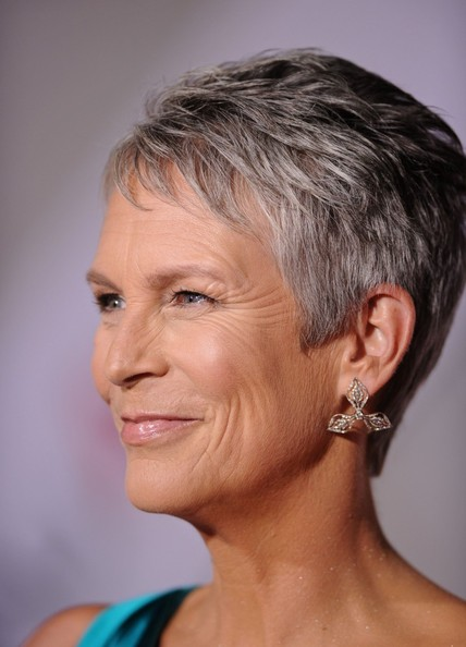 Jamie Lee Curtis Dangling Diamond Earrings
