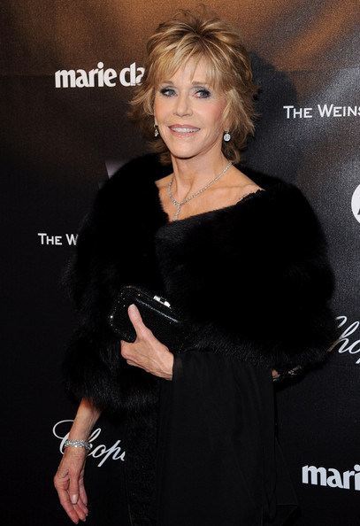 Jane Fonda Dangling Diamond Earrings