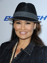Tia Carrere looked cool at the premiere of 'Jeff, Who Lives at Home' with her black straw fedora.
