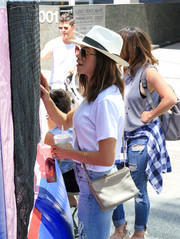 Jenna Dewan-Tatum enjoyed a sunny day out in LA wearing a classic white fedora.