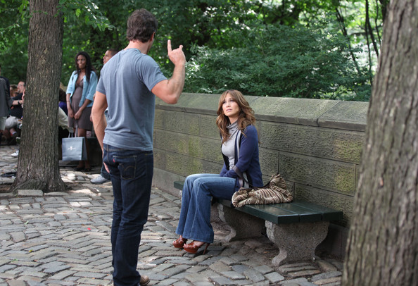 Jennifer Lopez and Alex O'Loughlin on the Set of 'The Back-Up Plan' 2