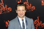 Jeremy Renner Patterned Scarf