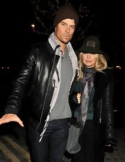 A brown beanie was not only stylish but practical for Josh Duhamel as he and wife Fergie stepped out in London.
