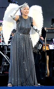 The sparkly gray gown Annie wore at the Diamond Jubilee concert was truly fit for an angel.