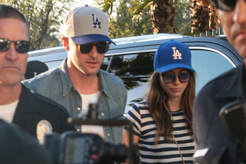 Justin Timberlake Jessica Biel Justin Timberlake and Jessica Biel Are Seen at Game Two of the World Series