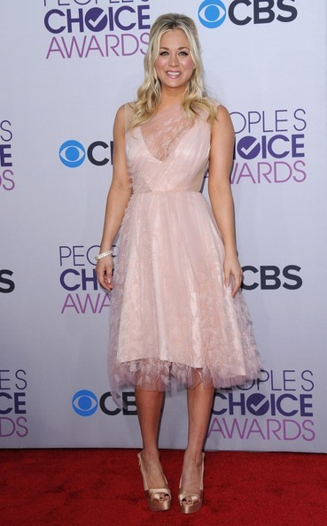 Kaley Cuoco Peep Toe Pumps