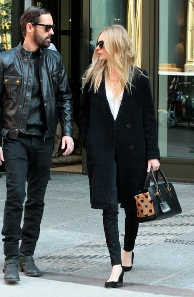 Kate Bosworth Leather Coat