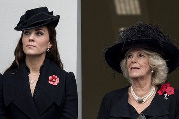 Kate Middleton Camilla Parker Bowles Remembrance Service at The Cenotaph