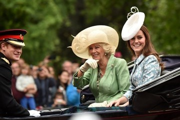 Kate Middleton Camilla Parker Bowles Royals Attend the Trooping of the the Colour 2015