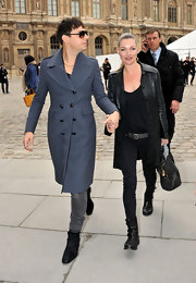 Jamie Hince strolled through Paris in a pair of black suede ankle boots.