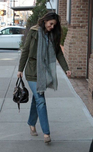 More Pics of Katie Holmes Military Jacket (2 of 7) - Katie Holmes Lookbook - StyleBistro