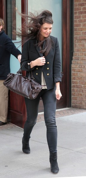 More Pics of Katie Holmes Skinny Pants (4 of 15) - Jeans Lookbook - StyleBistro