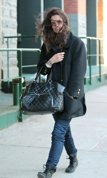 More Pics of Katie Holmes Wool Coat (5 of 11) - Wool Coat Lookbook - StyleBistro