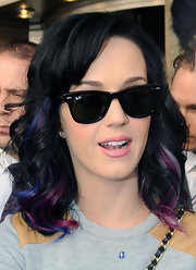 Katy Perry kept it fun with these pastel-streaked curls while out in London.