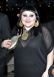 Beth Ditto completed her look with a pop of vibrant red nail polish at the Keep a Child Alive Black Ball.