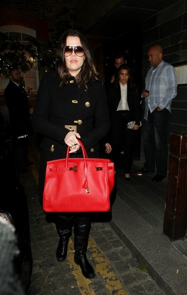Khloe Kardashian Leather Tote