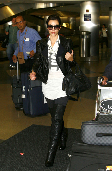 More Pics of Kim Kardashian Over the Knee Boots (5 of 8) - Kim