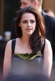 Kristen Stewart smoldered outside 'The Today Show' with smoky kohl-lined eyes.