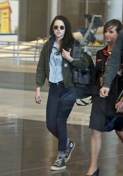 More Pics of Kristen Stewart Bomber Jacket (1 of 9) - Kristen Stewart Lookbook - StyleBistro