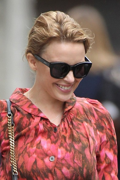 Kylie Minogue Loose Bun