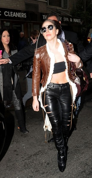 Lady Gaga Leather Pants