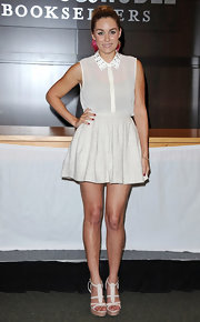 We adore Lauren Conrad's girly take on the miniskirt.