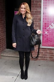 Lauren Conrad wore this A-line coat for her appearance on the 'Wendy Williams' show.