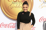 Laurie Hernandez High-Waisted Pants