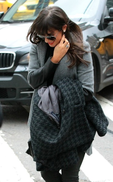 Lea Michele Spotted in NYC