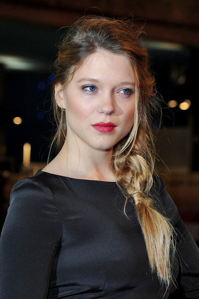 Lea Seydoux Long Braided Hairstyle