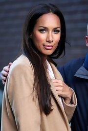 Leona Lewis wore sheer lip balm to keep her lips soft and supple while out in London.
