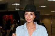 Lily Aldridge Suede Dress Hat
