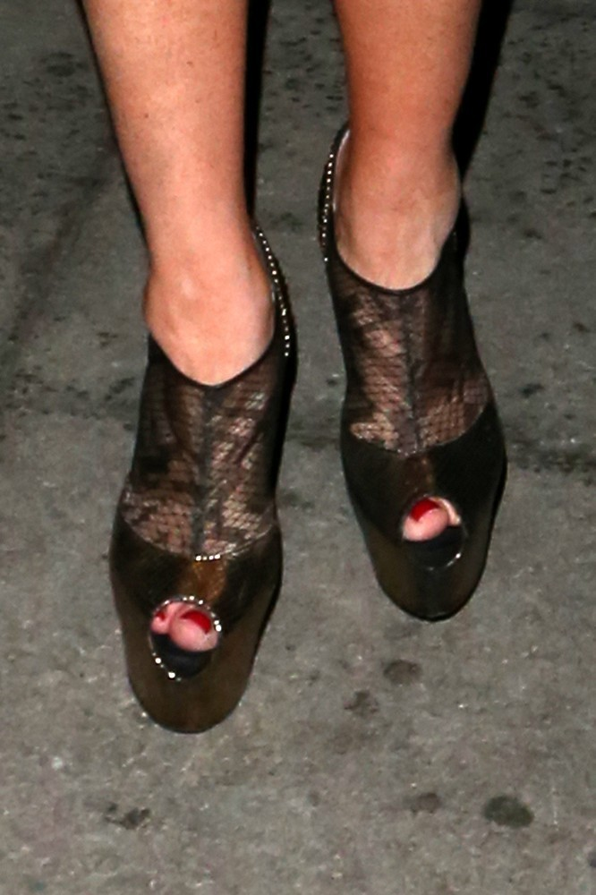Lindsay Lohan Peep Toe Pumps - Shoes Lookbook - StyleBistro Kate Bosworth Shoes