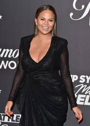 Chrissy Teigen's bright red mani added a welcome pop of color to her black look at the 'Lip Sync Battle LIVE: A Michael Jackson Celebration.'