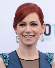 A nude lip with a hint of pink gave Carrie Preston a lively beauty look.