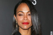 Zoe Saldana Long Side Part