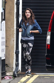 Madonna's daughter wore flowery leggings while out in NYC.