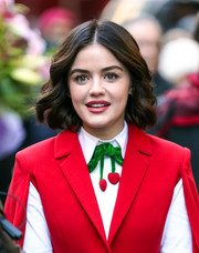 Lucy Hale sported perfectly sweet waves on the set of 'Katy Keene.'