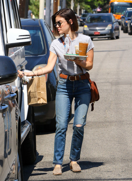 More Pics of Lucy Hale Leather Messenger Bag (1 of 7) - Lucy Hale Lookbook - StyleBistro []