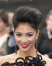 Nicole Scherzinger arrived at the London premiere of 'Men in Black 3' wearing a pair of bold statement-making smoky quartz earrings featuring silver diamonds.