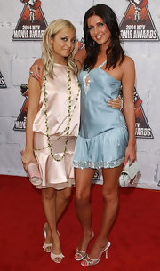 Nicky Hilton carried a baby blue evening bag to the 2004 MTV Movie Awards.