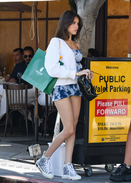 More Pics of Madison Beer Canvas Sneakers (3 of 30) - Athletic Shoes Lookbook - StyleBistro []