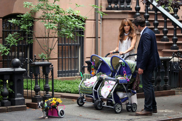 Jennifer Lopez Alex O'Loughlin Marc Anthony visits Jennifer Lopez on Set