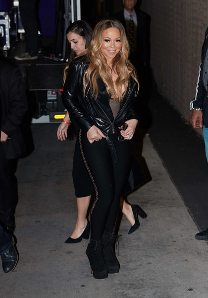 Mariah Carey Lace Up Boots