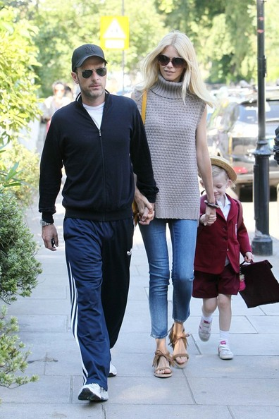 Claudia Schiffer and Matthew Vaughn Take a Walk