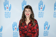Mayim Bialik Wrap Dress